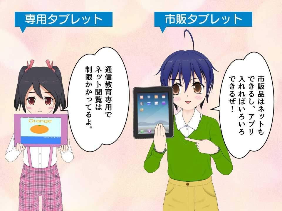 専用タブレット(例えばスマイルゼミなど)と市販のタブレットの違い