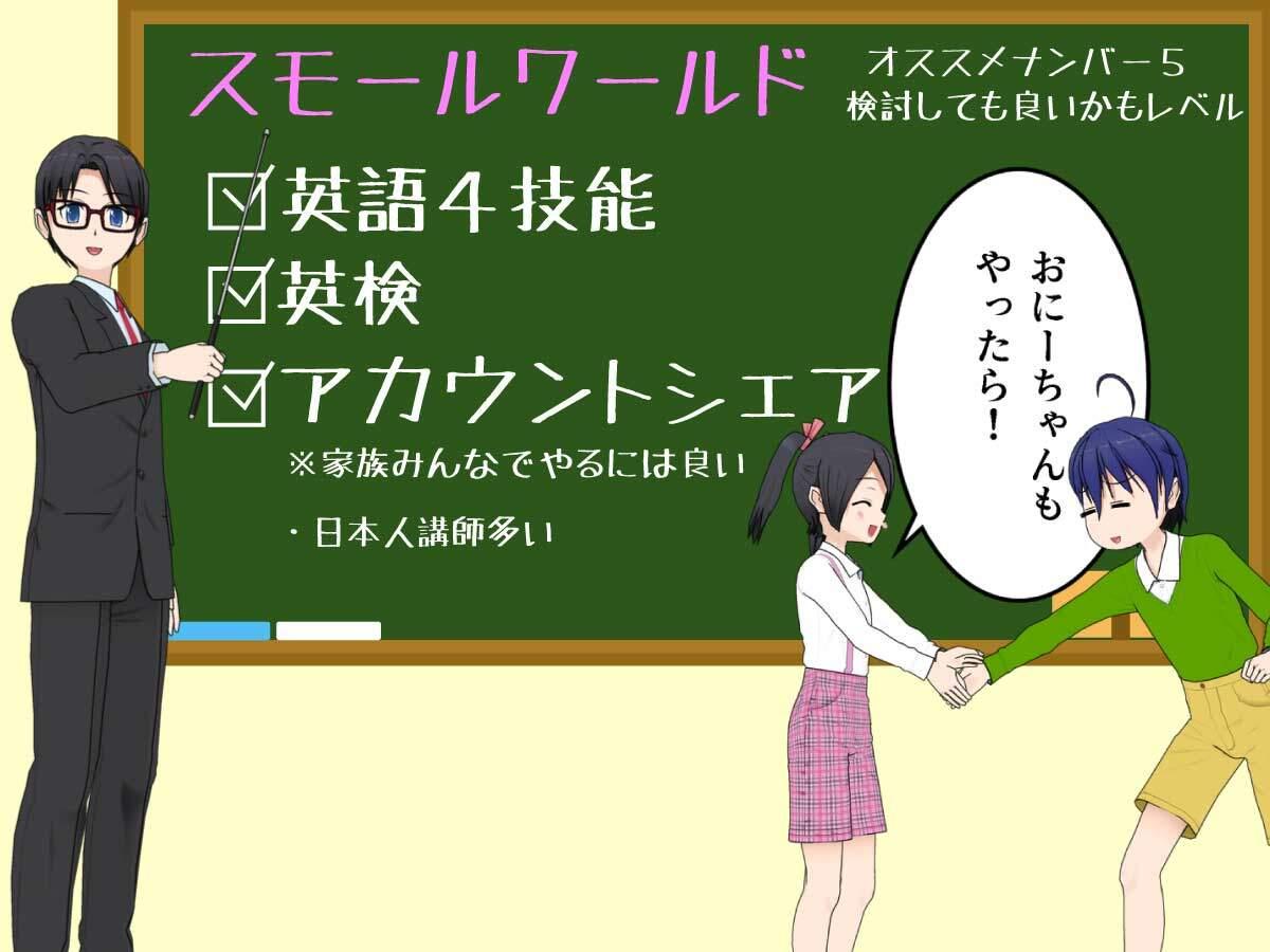スモールワールド オンラインはアカウントをシェアできる。日本人が多い子供対応可能オンライン英会話
